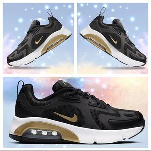 NIKE AIR MAX 200 Sneakers New Shoes NEW Black Gold